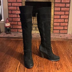 Black Seychelles over knee boots
